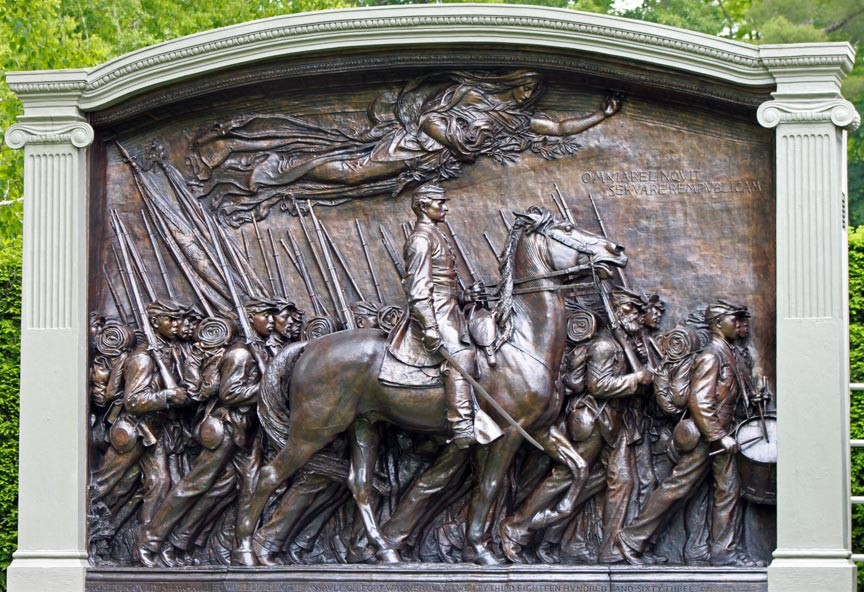 The Shaw Memorial at Saint-Gaudens National Historic Park