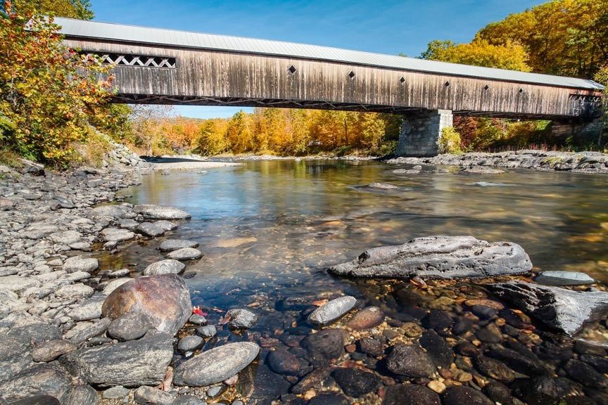Vermont fall foliage and covered bridges