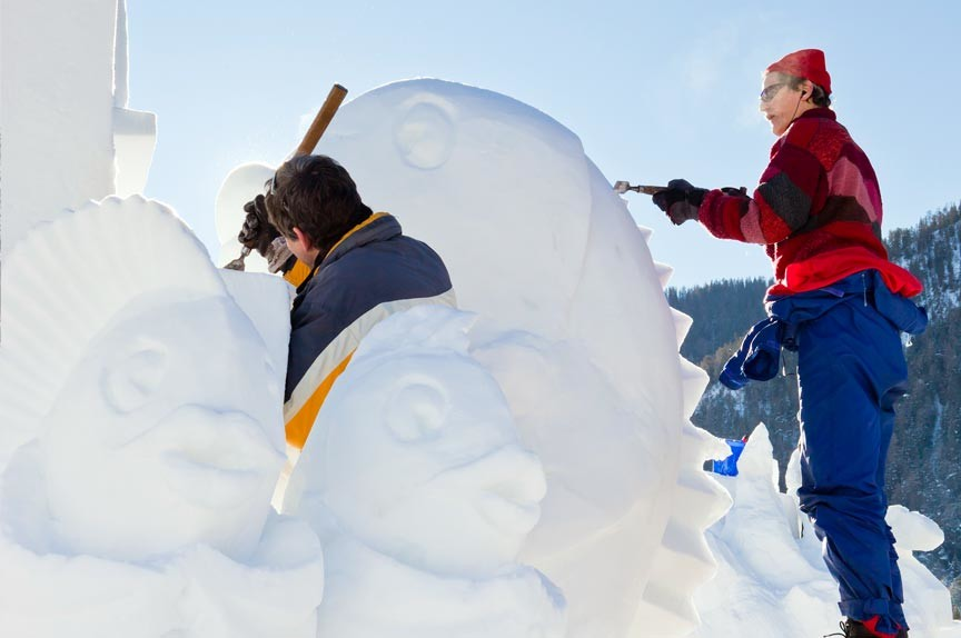 Woodstock Snow Sculpture Festival 2019